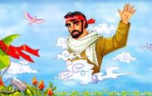 تصویر کودکانه به مناسبت هفته دفاع مقدس به همراه فایل لایه باز (psd)