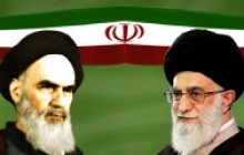 فایل لایه باز بنر با تصویر امام خمینی (ره) و امام خامنه ای