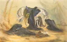 تصویر باکیفیت تابلوی عصر عاشورا اثر استاد فرشچیان (کیفیتی باور نکردنی)