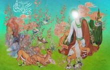 فایل لایه باز تصویر تولد امام رضا (ع) / خیال کن که غزالم بیا و ضامن من شو