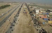 فیلم های هوایی پیاده روی اربعین - مشایه الأربعین - قسمت چهارم