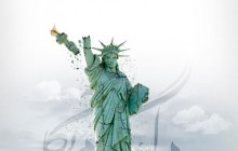 فایل لایه باز تصویر مرگ بر آمریکا