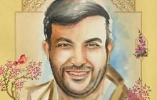 فایل لایه باز تصویر شهید جواد قربانی / شهید مدافع حرم
