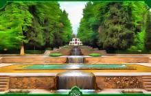 فایل لایه باز تصویر ایرانگردی / باغ شاهزاده کرمان