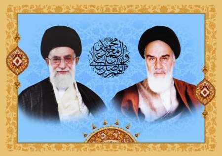 تصویر امام خمینی (ره) و امام خامنه ای (مدظله العالی)