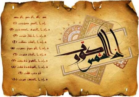 ماه رمضان / تصویر قرآنی / اذا الشمس کورت