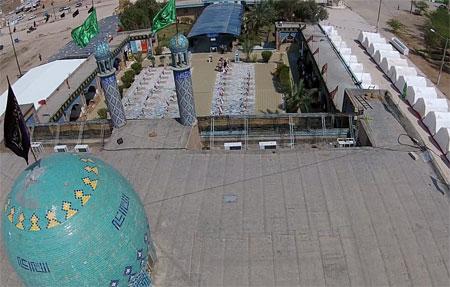 فیلم برداری هوایی از یادمان شهدای هویزه