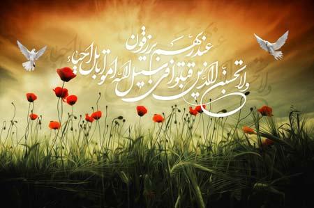 ولا تحسبن الذين قتلوا في سبيل الله امواتا بل احياء عند ربهم يرزقون