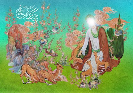 تولد امام رضا (ع) / خیال کن که غزالم بیا و ضامن من شو