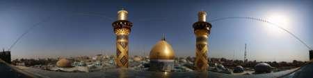 عکس پانوراما (۳۶۰ درجه) از گنبد حرم حضرت عباس (ع) - ashura