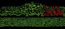 تصویر / یا فاطمه الزهرا یا بنت محمد یا قره عین الرسول / شهادت حضرت فاطمه (س)