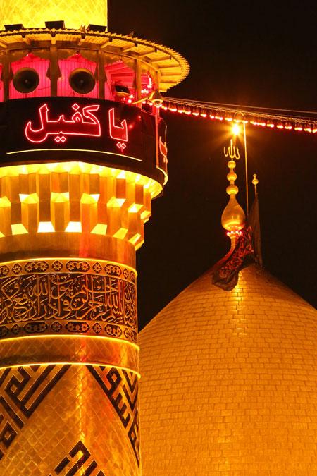 عکس با کیفیت از گنبد حرم حضرت عباس (ع)