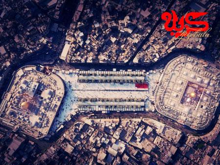 تصویر هوایی از بین الحرمین / کربلا
