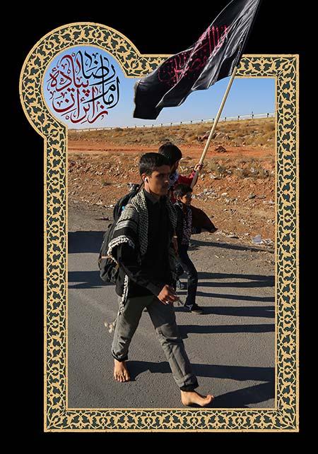 زائران پیاده امام رضا (ع)