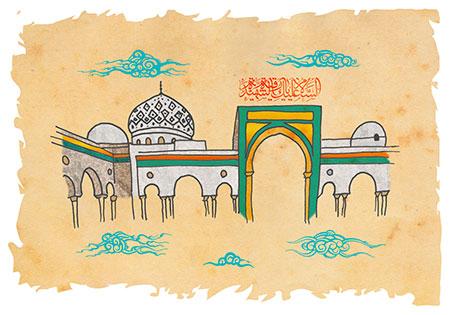 نقاشی حرم حضرت رقیه (س)
