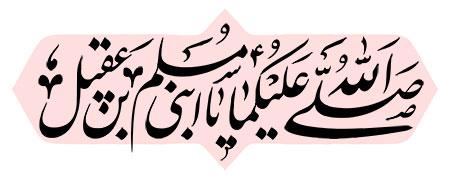 صلی الله علیکما یا ابنی مسلم بن عقیل