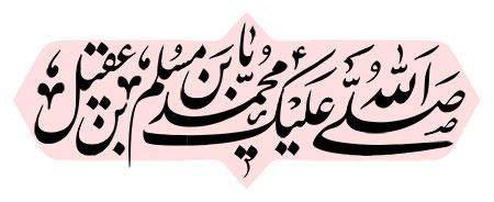 صلی الله علیک یا محمد بن مسلم بن عقیل