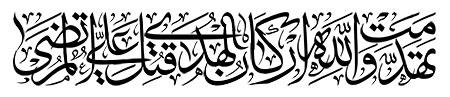 تهدمت و الله ارکان الهدی قتل علی المرتضی